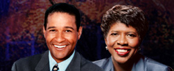 Photo: Bryant Gumbel and Gwen Ifill