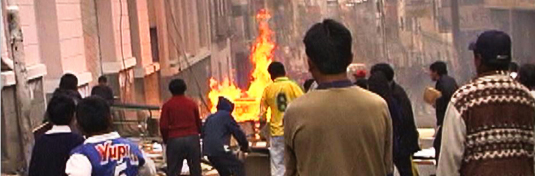 Rioters and Street Fires in Bolivia