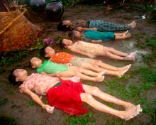 Dead bodies after cyclone