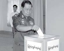 Junta leader voting.
