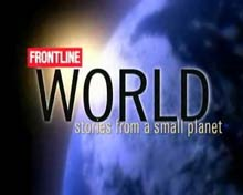 FRONTLINE/World TV logo.