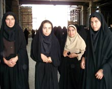 iranian women visit the shrine of Ayatollah Khomeini.