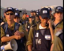 Israeli evacuation forces.