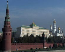 The Kremlin from Moscow River.