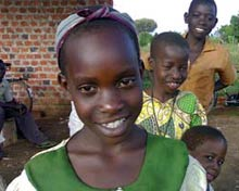 Smiling Ugandan Children.