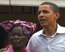 Obama with his Kenyan grandmother.