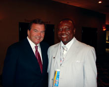 Robert Ngwu with Tom Ridge.