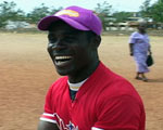 Baseball Player in Ghana