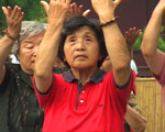 Women practicing Tai Chi in Beijing