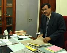 D'Souza Robinson in his office.