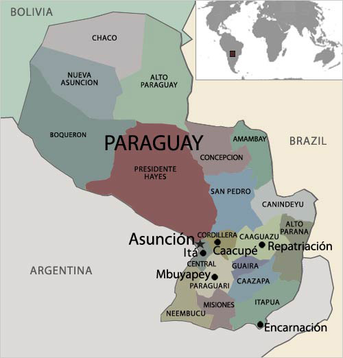 FRONTLINEWORLD Paraguay Sounds Of Hope Paraguay Profile PBS - Map of paraguay world