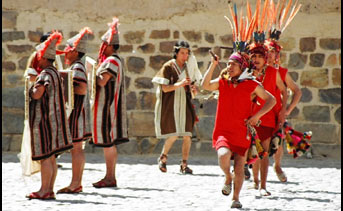 Traditional inca dancing was featured in the series