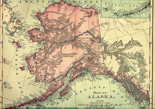 1895 Map Of Alaska Source 1895 U S Atlas Click Image For A Larger View