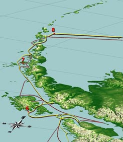 mt mckinley on a map of alaska aleutian islands