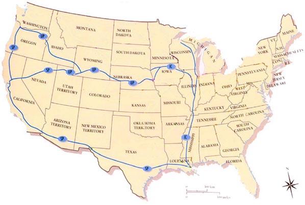 PBS Harriman Historic Maps - Old us railroad map