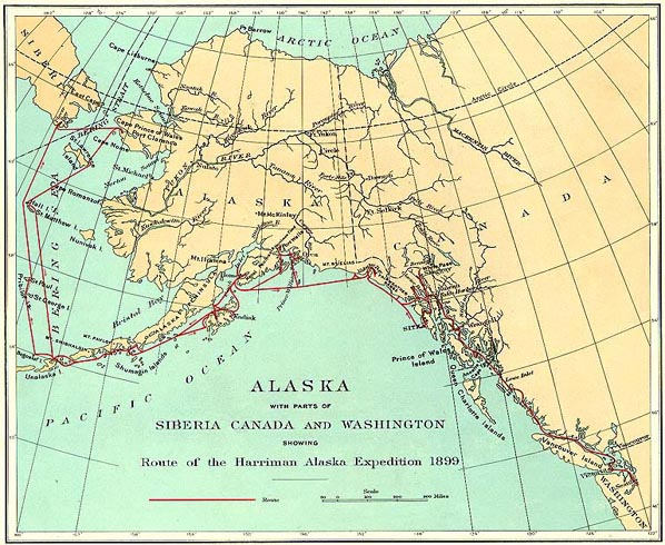 PBS Harriman Expedition Maps - Alaskan map