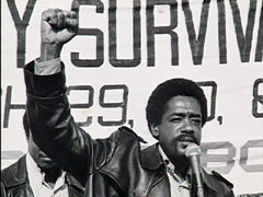 Bobby Seale And Huey Newton Bobby speaking at Community