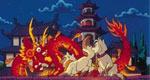 Sagwa with Chinese Dragon