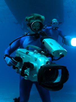 filming underwater with HD cameras