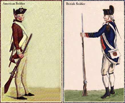 continental army vs british redcoats essay