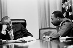LBJ and Martin Luther King, Johnson Library