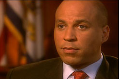 Cory Booker, photo by Robin Holland