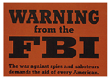 FBI Domestic Spy Poster