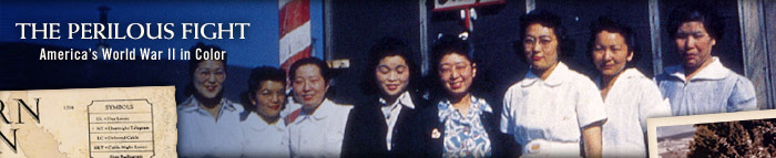 Asian American Women in Front of American Flag
