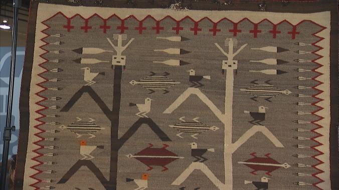 Navajo Tree Of Life Pictorial Rug Ca