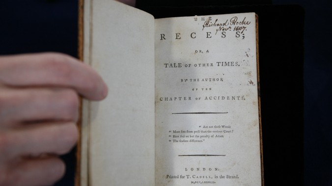 """The Recess"""" by Sophia Lee, 1783-1785 