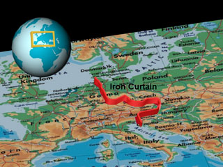 Map Showing The Geographic Expanse Of Iron Curtain