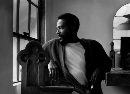 Marvin Gaye at home.