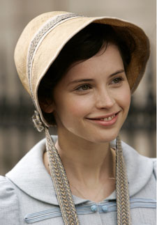 Northanger Abbry: Felicity Jones as Catherine Morland