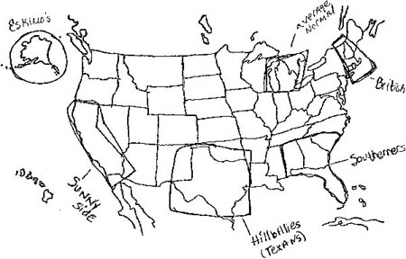Hand Drawn Us Map.Draw Us Map