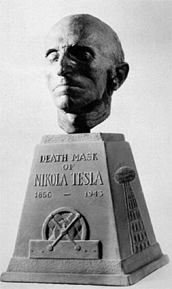 The Death Mask Of Nikola Tesla