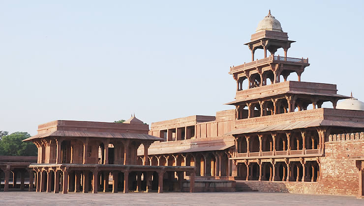The Pachisi Court, Girls' School, and Panch Mahal of the palace ...