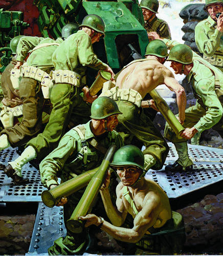 [Anti Aircraft Crew in Action, detail - Robert Cornwell]