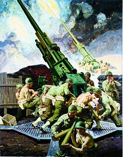 [Anti Aircraft Crew in Action  - Robert Cornwell]