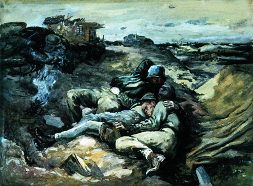 [Soldiers Resting - Manuel Bromberg]