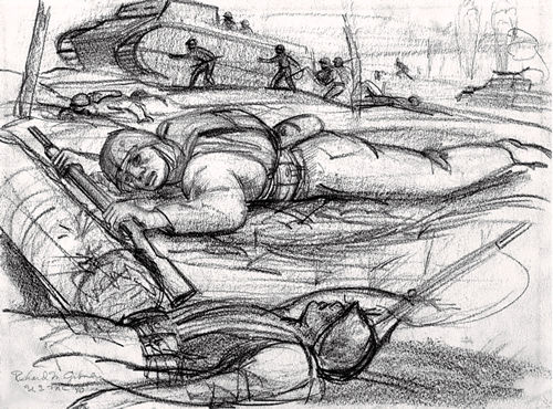 [Sketch of Dead Soldiers - Richard M. Gibney]