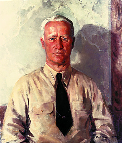 [Portrait of Admiral Nimitz - William Draper]