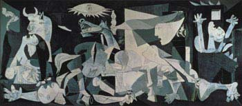 Pablo Picasso's Guernica; a tapestry version greets the UN Security Council.  Except when the subject is Iraq. image: pbs.org
