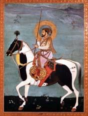 Shah Jahan on horseback