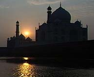 Taj Mahal at evening