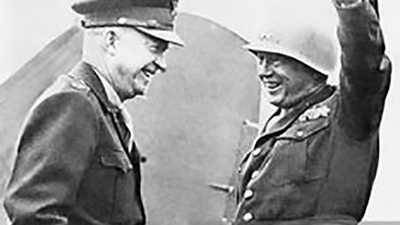 Dwight D. Eisenhower and George S. Patton Jr. poster image