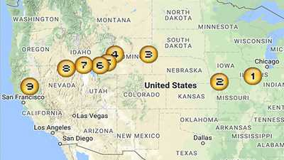 Map of the Donner Party Route poster image