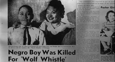 Image result for black teen emmett till abducted and killed in mississippi
