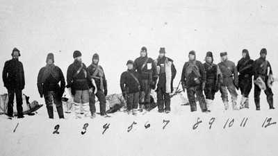 The Greely Expedition on site in the Arctic poster image