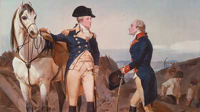Alexander Hamilton and his Patron, George Washington poster image