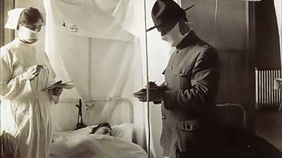 Influenza Across America in 1918 poster image